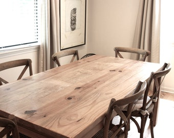 Dining Table, Parsons Table, Reclaimed Wood Table