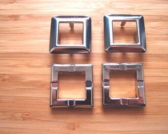 Decorative Square Metal Eyelets Grommets for Handbags, Purses, Straps Handles 21mm - set of 2 - Bag Making Supplies