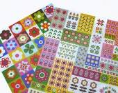 Retro Floral Sticker Sheets - Nordic Flowers Planner Labels