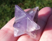 Beautiful Super 7 Mineral Amethyst, Cacoxenite Merkaba !