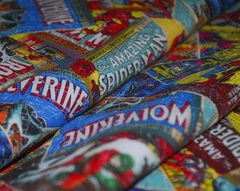 Super Hero Fabric Marvel Comics Spider Man Hulk Iron Man Wolverine Thor 100% High Quality Cotton