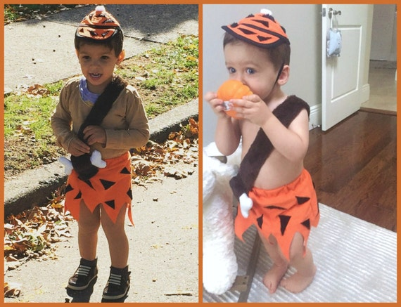 bam bam costume made to order sizes 12 months 2t 3t 4t