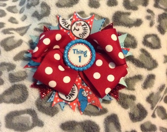 Dr. Seuss Thing Hair Bow