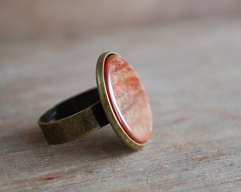 Mars . Shimmering copper-orange ring / boho jewelry /  gifts for her