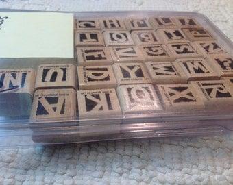 Stampin Up Stamps - Alphablocks