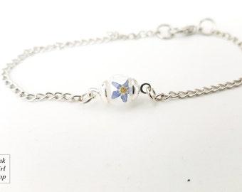 """Tender bracelet """"Forget me not"""" silver"""