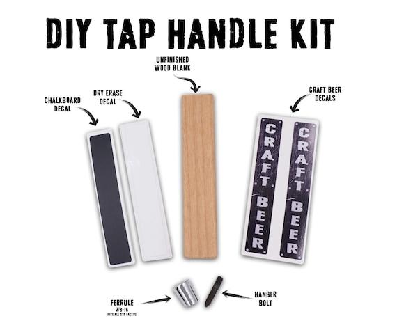 Tap Handle Kit Chalkboard Dry Erase Craft Beer Tap