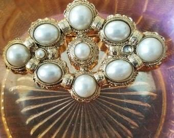 Vintage Pearl Brooch