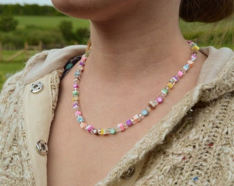 Mini Crystal Dolly Mixtures Necklace Polymer Clay Sweets 20""