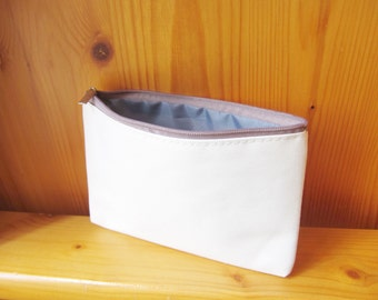 DIY Plain White *Smooth* Canvas Wallet / Small Bag, Custom Size, Zipper Color & Bag Color, wholesale, ShineKidsCrafts