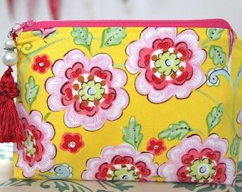 Flowered Cosmetic Bag Makeup Bag