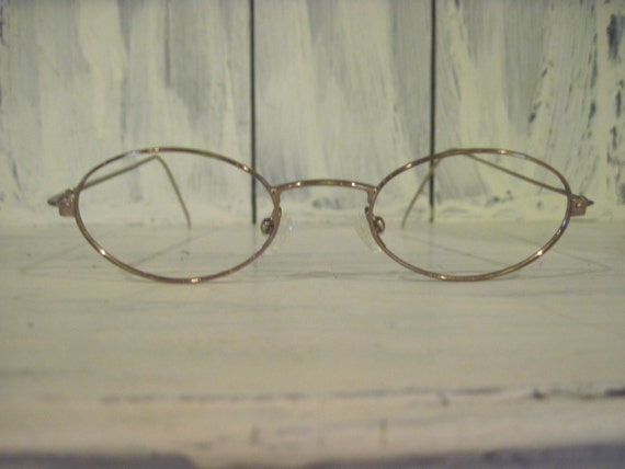 Vintage Gucci womens metallic eyeglasses frames Made in