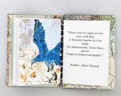 A journey of wonder, Handmade book , coptic stitch book. customisable, Artists book
