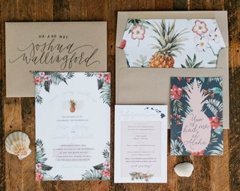 You Had Me At Aloha Wedding Invitation | Destination Wedding Invitation | Hawaiian Wedding Invitation