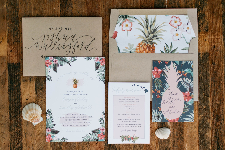 You Had Me At Aloha Wedding Invitation Destination Wedding