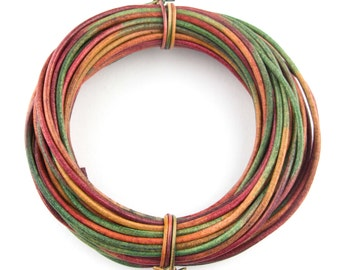 Kinte Gypsy Natural Dye Round Leather Cord 2mm 25 meters (27.34 yards)