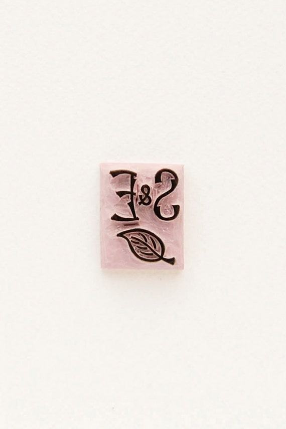 Small monogram rubber stamp woodland style twig initials