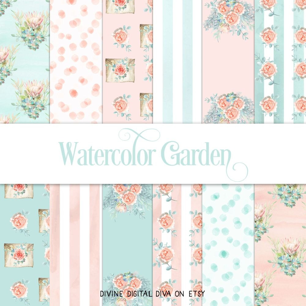 wallpaper watercolor flower