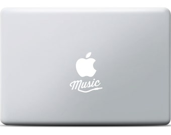 Apple Music MacBook Sticker, Laptop sticker, vinyl decal, MacBook Pro, MacBook Air