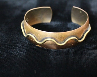 1970s vintage copper bangle