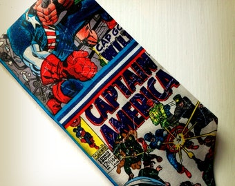 Captain America Necktie Marvel Comics