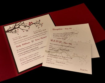 Bilingual English And Vietnamese Oriental Wedding Invitations