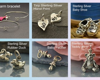Sterling Silver New Baby Love -New Moms -Babyshower - Family