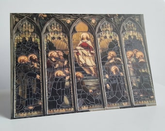 Stain glass window A6 Card