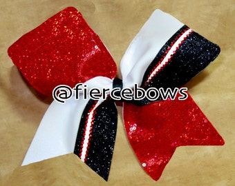 Ashlee Rhinestone and Glitter Cheer Bow