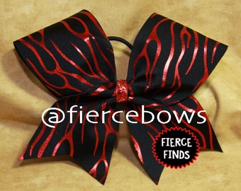 Flame Thrower Cheer Bow