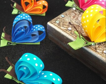 Colorful Butterfly-Baby Hair clip 5 colors to choose from