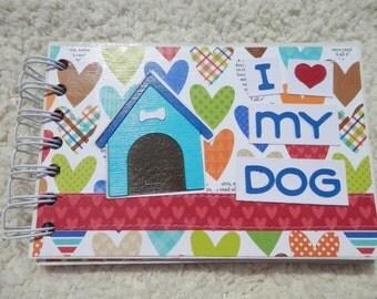 4x6 I Love My Dog Mini Scrapbook Album