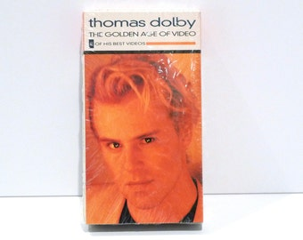 Thomas Dolby VHS Tape Golden Age of Video Vintage Compilation Recording 1989 Airwaves Radio Silence She Blinded Me With Science Hyperactive