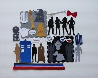Doctor Who Custom Chipboard Mini Book Album DIY Kit Scrapbooking