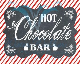 Hot Cocoa Bar Sign - matches Hot cocoa bar printables