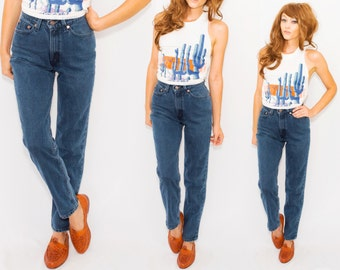 VTG Dark High Waisted Levi's •Levis 512 •Tapered Leg xs small • Relaxed • High Waisted Denim  Jeans / High Rise  / 25 26