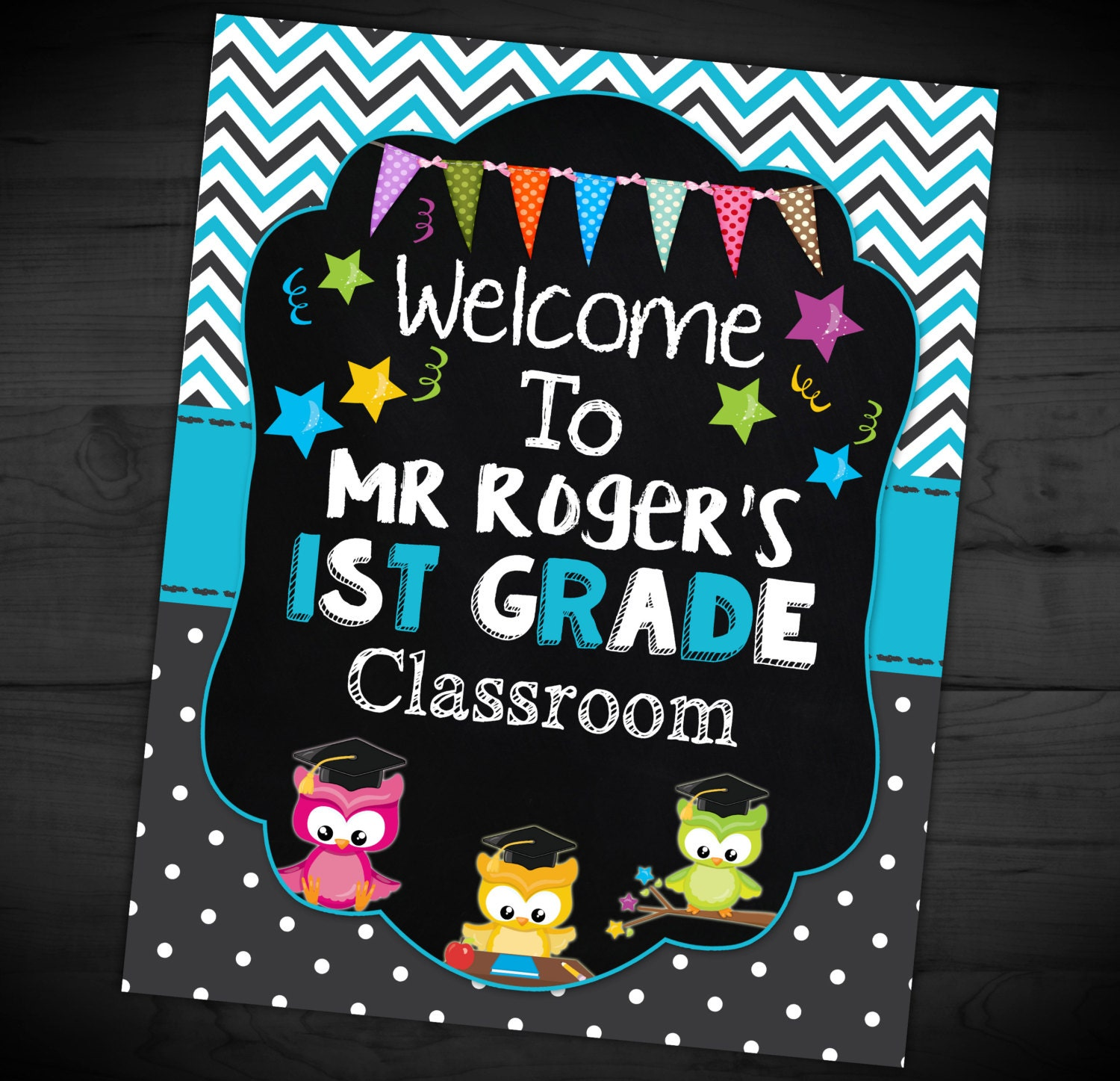 Classroom Welcome Design ~ Welcome to my class sign teacher chalkboard classroom grad