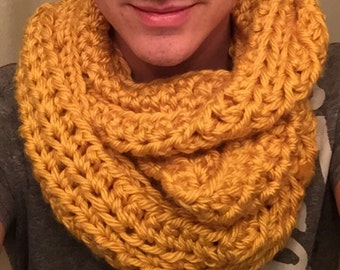 Bright Mustard Yellow Infinity Scarf