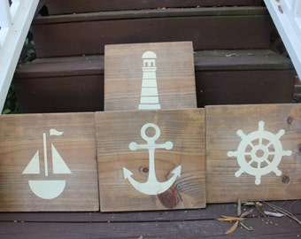 SET OF FOUR Nautical Wall hangings