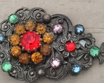 vintage rhinestone Dress clip