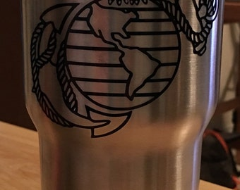 United States Marine Corps Eagle Globe and Anchor Stainless SIC Cup
