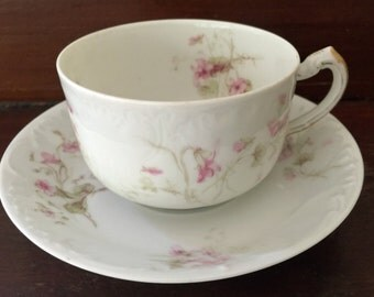 HalfPrice Haviland Limoges Sale, Antique Haviland Limoges Cup and Saucer, Schleiger 433, Collectible, Tea Party, Shabby Chic, France,Gift, R