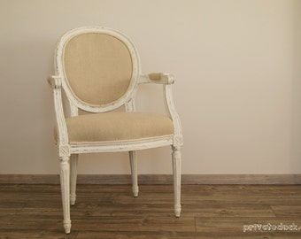 19th Century Louis XVI Style French Chair Shabby Chic Cottage Chic, Rustic Style, Vintage Chair, Wedding Gift!