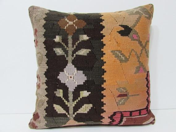 20x20 Kilim Pillow 20x20 Floral Pillow Sham By