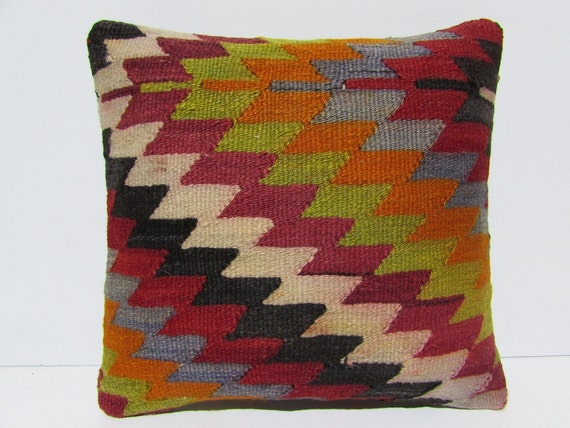 Outdoor Moroccan Floor Pillows : kilim pillow moroccan floor cushions 16x16 by DECOLICKILIMPILLOWS