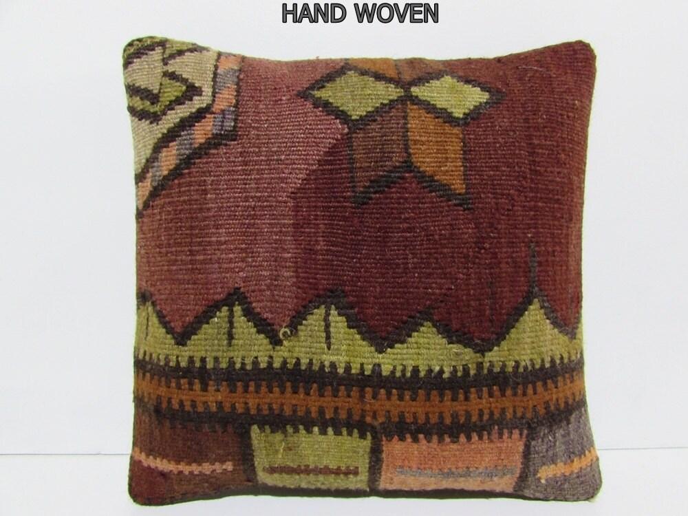 Turkish Throw Pillow Covers : Turkish cushion sofa throw pillow kilim pillow cover