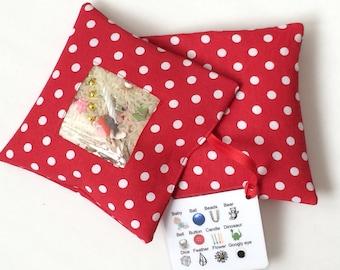 I Spy Bag - Red Polka Dots