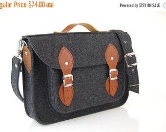 Winter Sale 40% Macbook Pro 17 inch, Felt Laptop 17 inch bag with pocket, satchel, CUSTOM SIZE