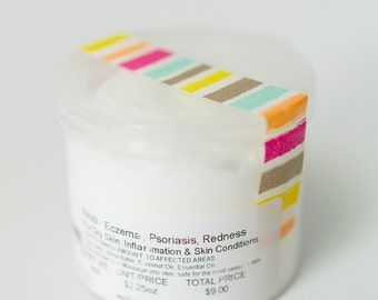 RAW | Organic | Skin Treatment | Moisturize and Soothe | Eczema | Psoriasis | All Purpose Balm