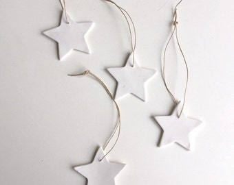 4 porcelain star ornament